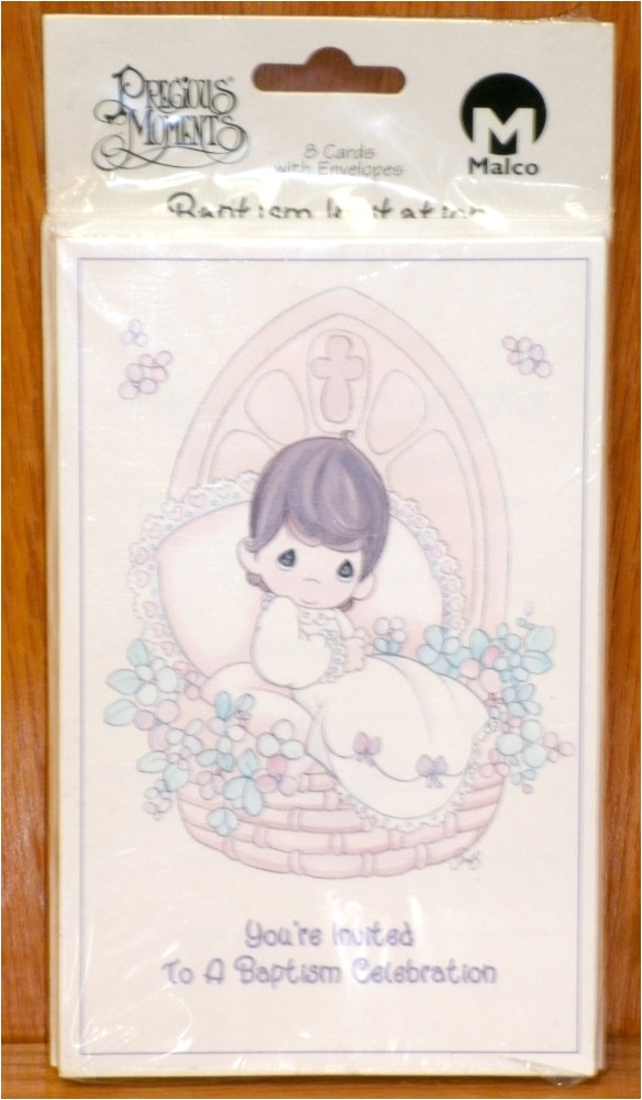 precious moments baptism invitation cards