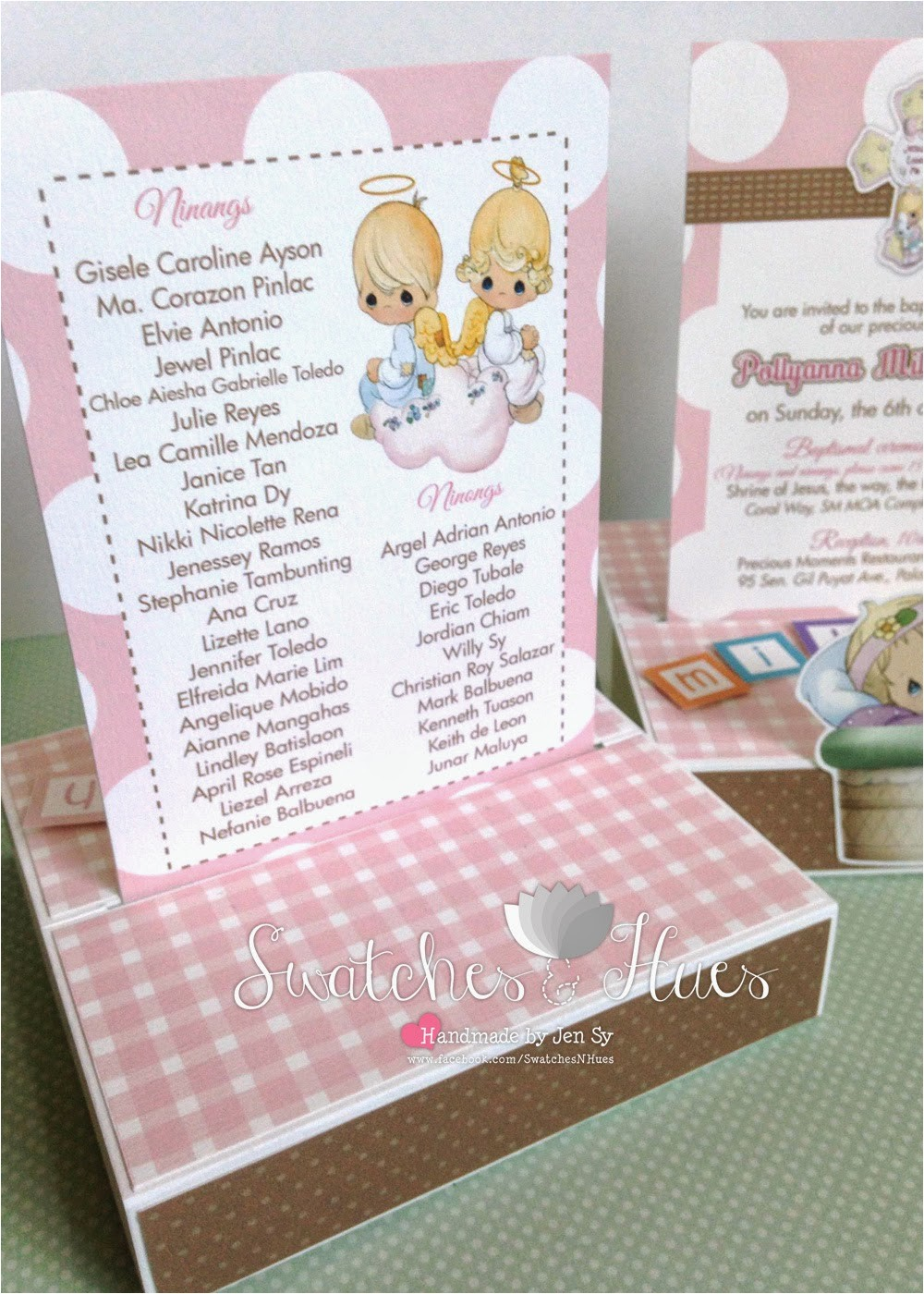 precious moments baptism invitations
