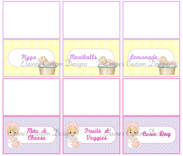 precious moments baby shower invitations template