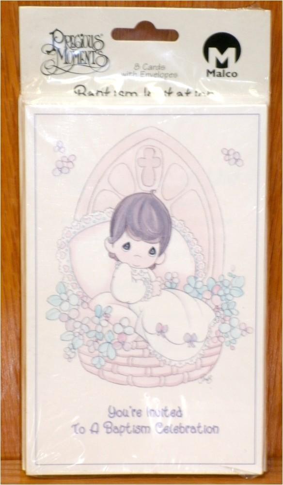 precious moments baptism invitation cards