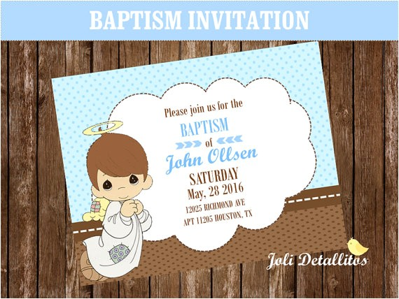 Precious Moments Printable Baptism Invitations Precious Moments Invitation