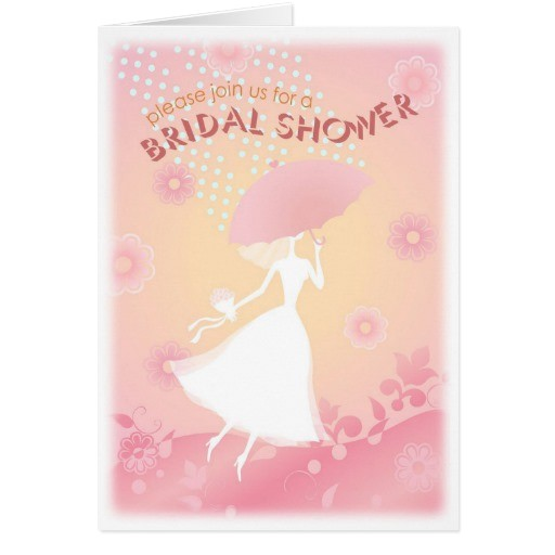 pretty in pink bridal shower invitation card 137898971148123604