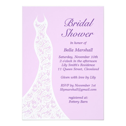 pretty purple bridal shower invitation 161125121376560771