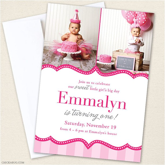 pretty in pink party photo invitations