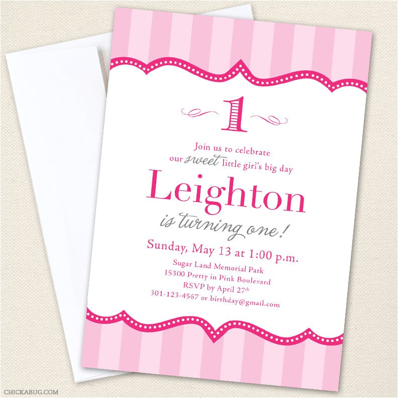 Pretty In Pink Birthday Party Invitations Pretty In Pink Party Invitations Professionally Printed or
