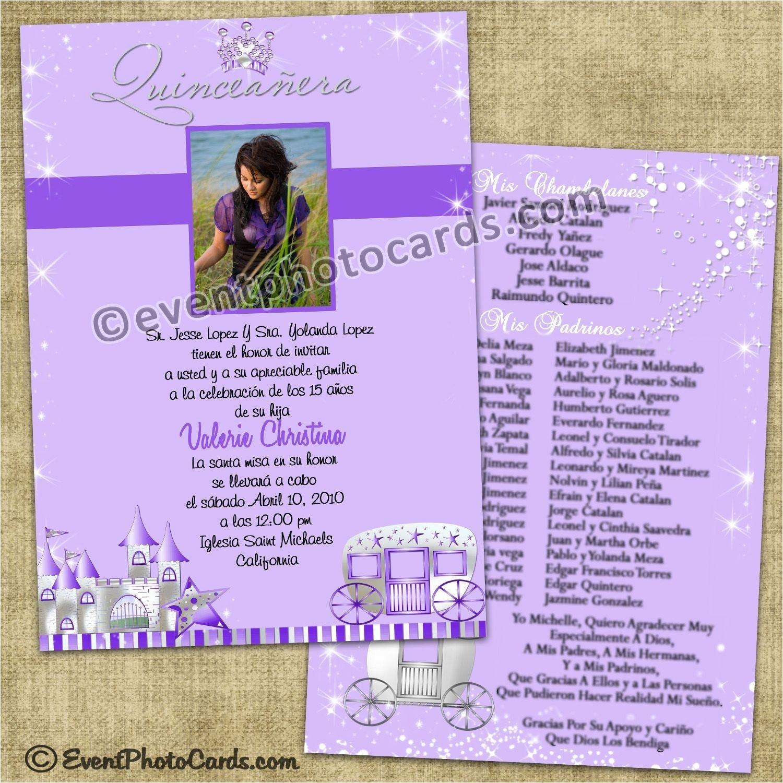 Pretty Quinceanera Invitations Purple Princess Quinceanera Invitations Sweet 15