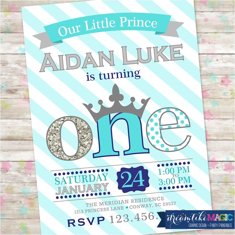 prince birthday invitation 1st birthday