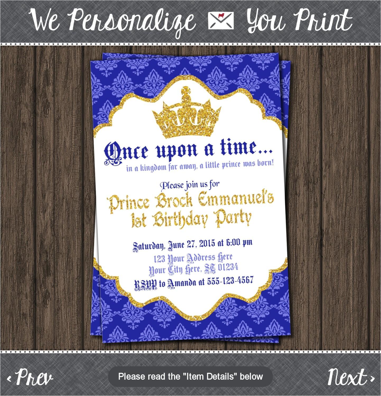 prince birthday invitation first