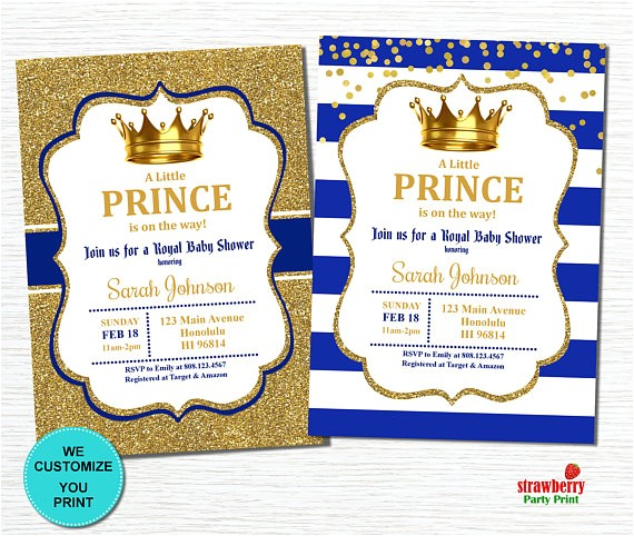 prince baby shower invitation royal baby