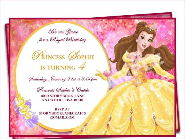 1st birthday invitation wording princess