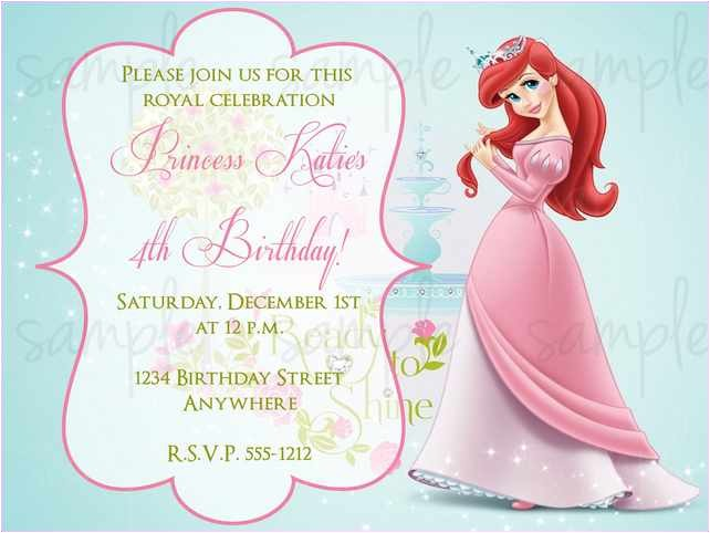 1st birthday princess invitation wording