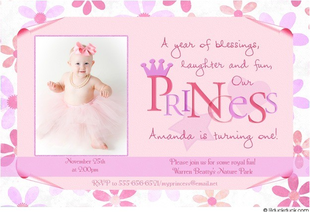flower princess birthday invitation