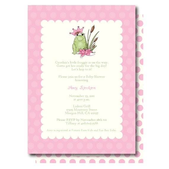 princess and the frog baby shower