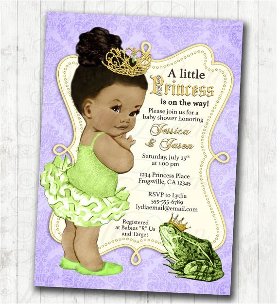 princess and the frog invitation frog