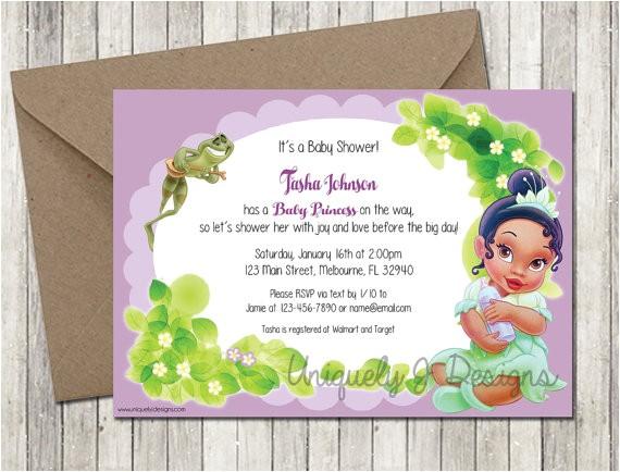 princess tiana baby shower invitation