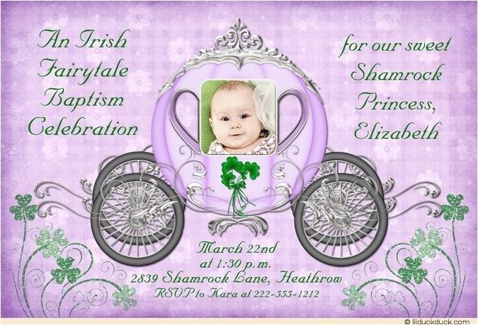 fairytale christening invitations