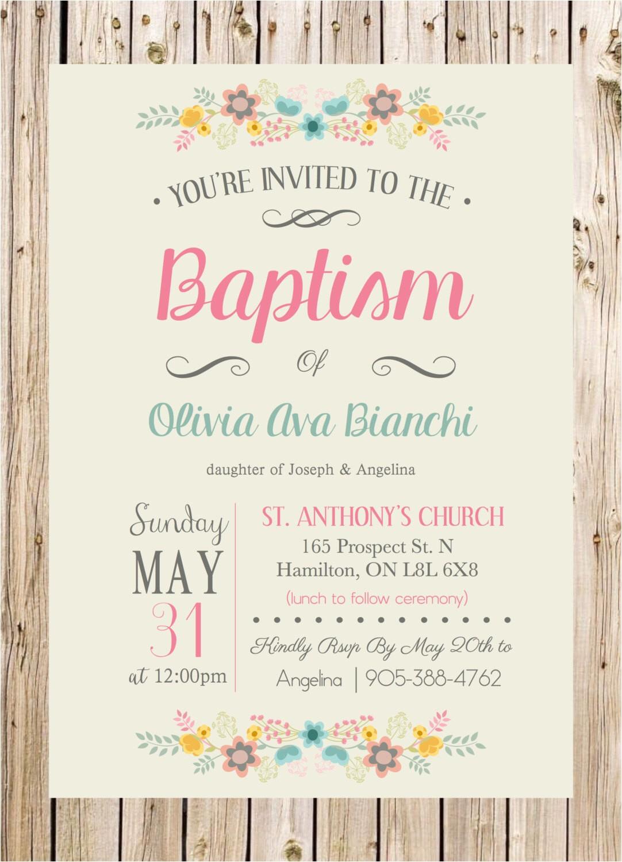 princess baptism invitation girl baptism invitation christening invitation princess baby