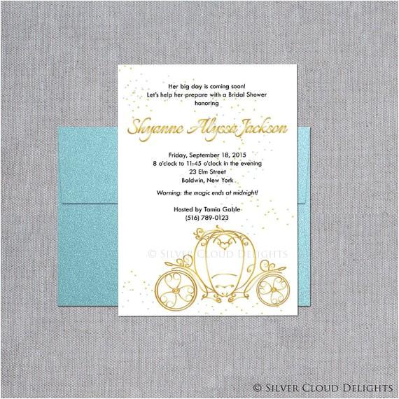 princess bridal shower invitation bridal