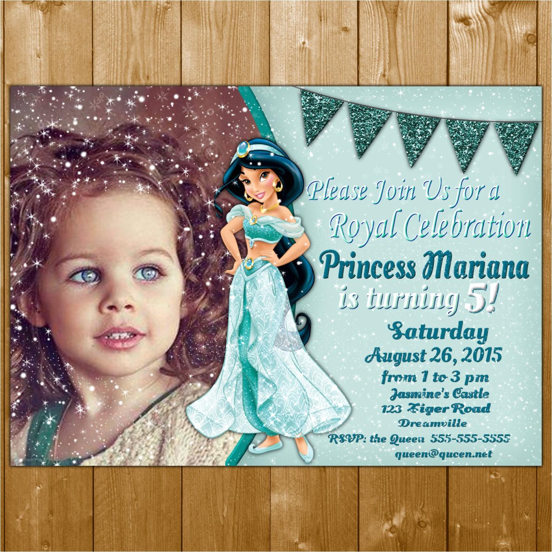 jasmine invitation princess jasmine