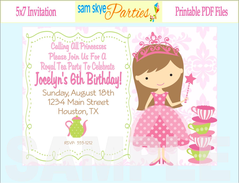 printable birthday invitations for kids