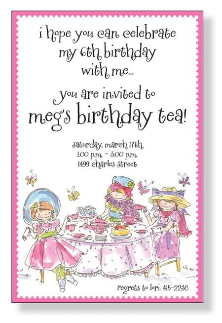 tea party princess invitation