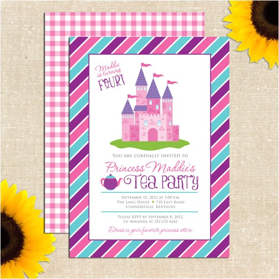 diy printable princess tea party