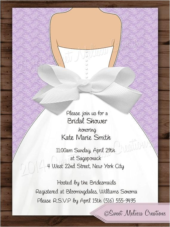 bridal shower invitation lace bow design multiple colors diy print at home sweet melissa creations