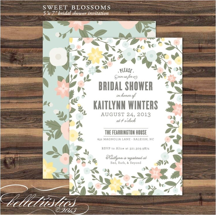 Print at Home Bridal Shower Invitations Bridal Shower Invitations Free Print at Home Bridal