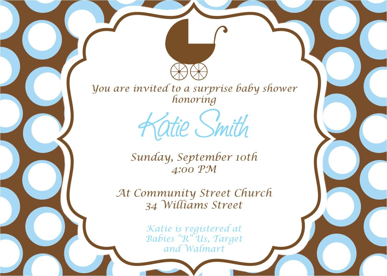 baby boy baby shower invitation custom