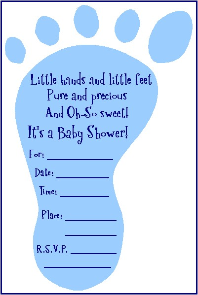 baby shower footprint invitation