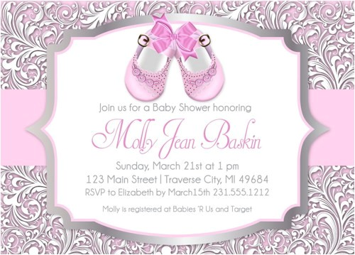 girl baby shower invitations printable