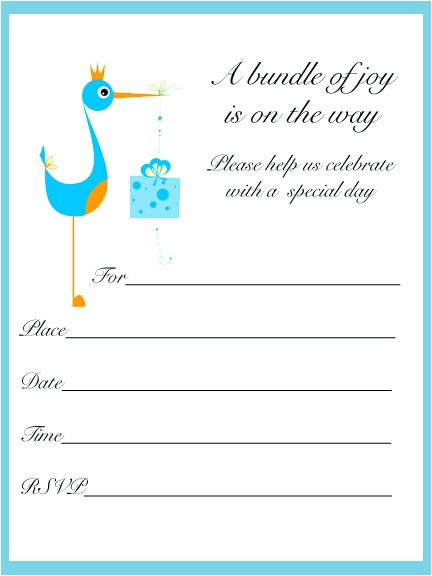 printable baby shower invitations template