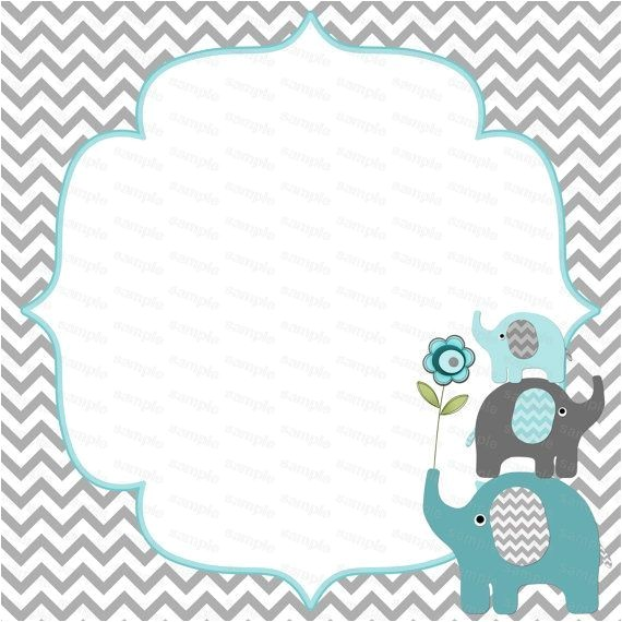 Printable Baby Shower Invitations Elephant theme Get Free Printable Kids Birthday Party Invitations