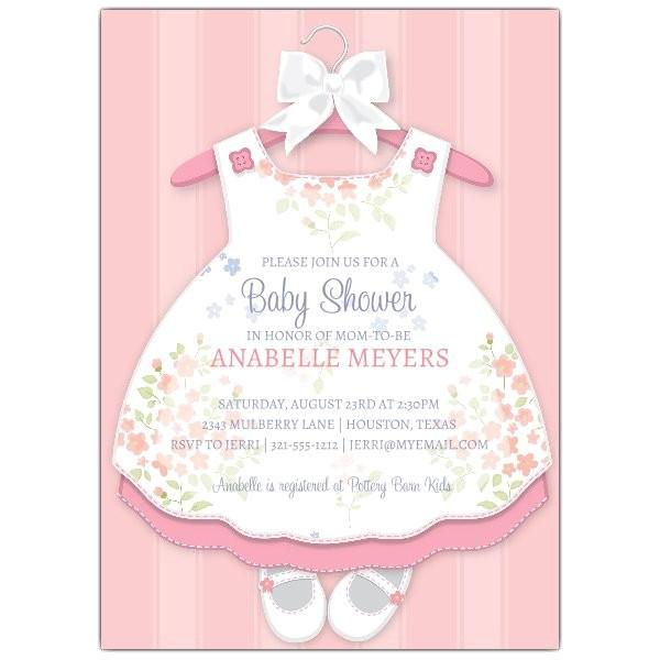baby girl dress invitations p 643 57 1416