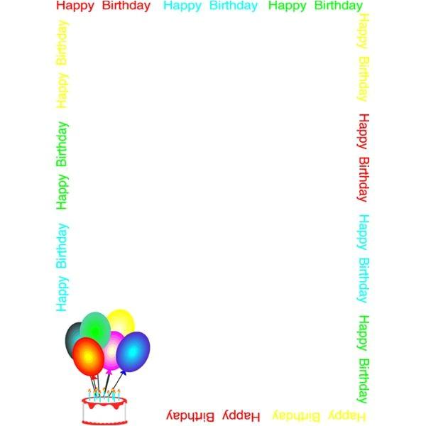 printable birthday invitation borders and frames