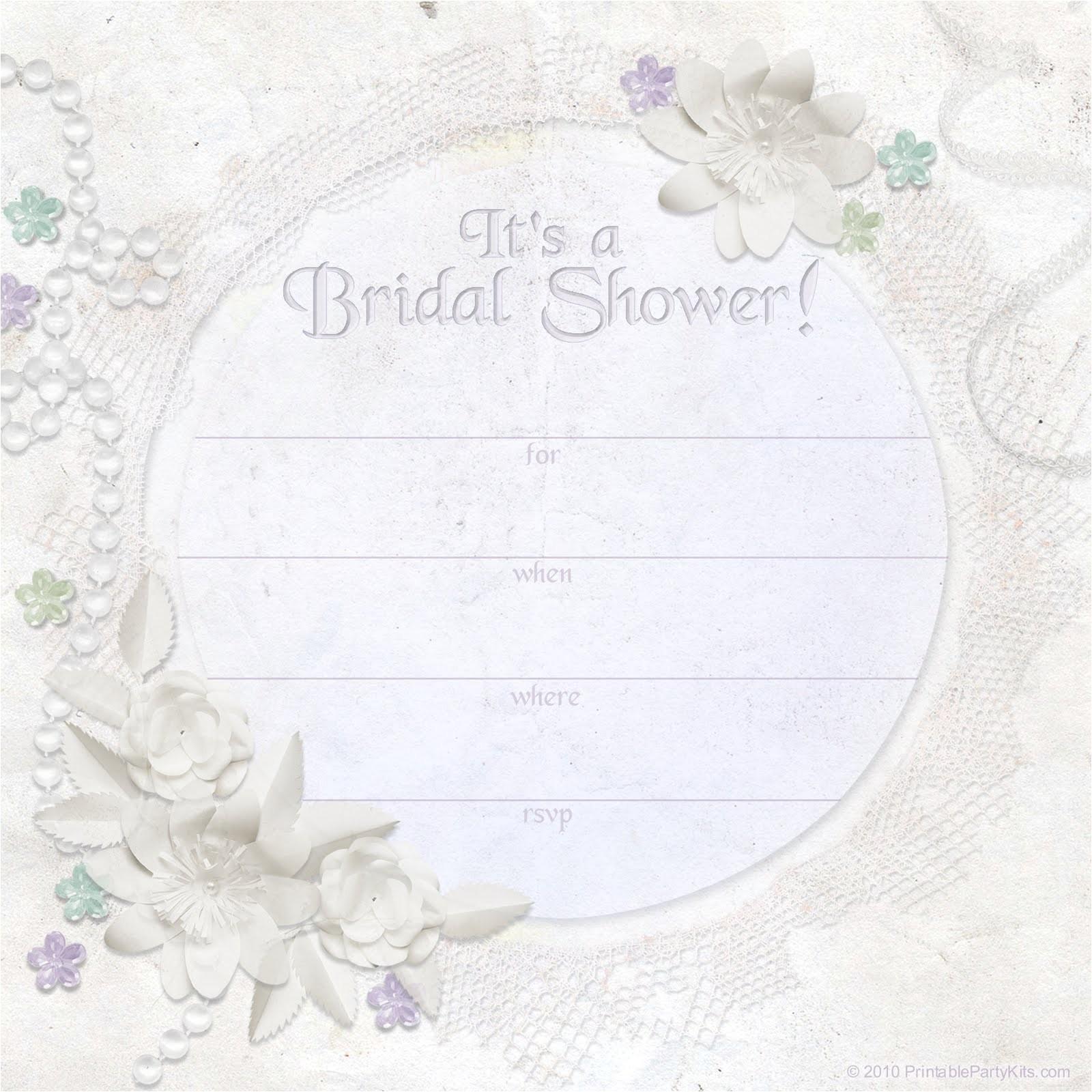 free printable bridal shower invitations