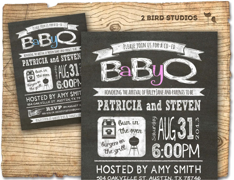 baby q baby shower invitation coed baby
