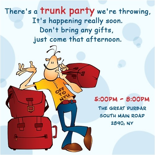 good ideas to throw perfect college trunk party