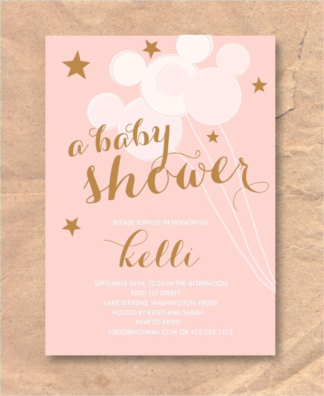 printable disney baby shower invitation