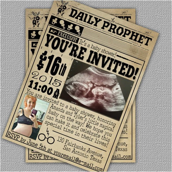 custom harry potter baby shower