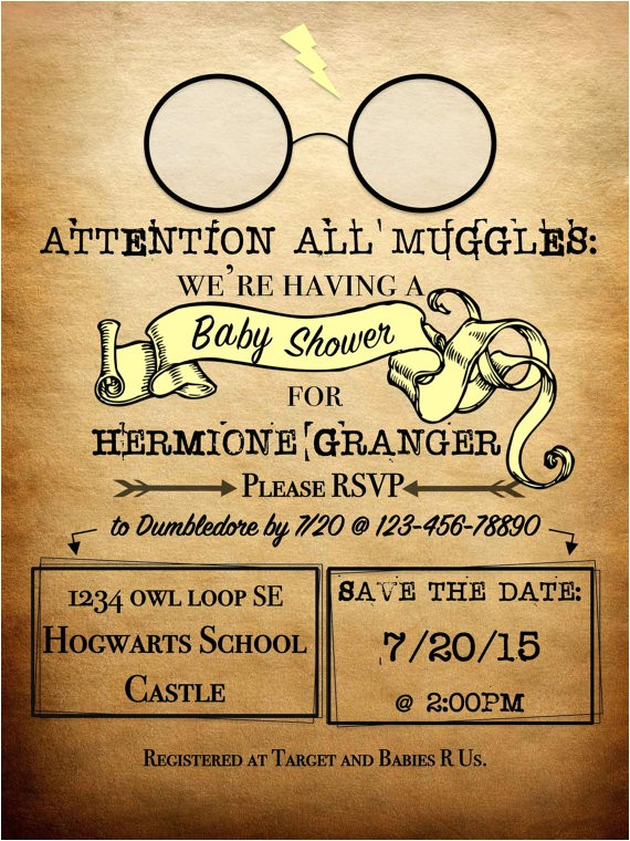 personalized harry potter theme baby
