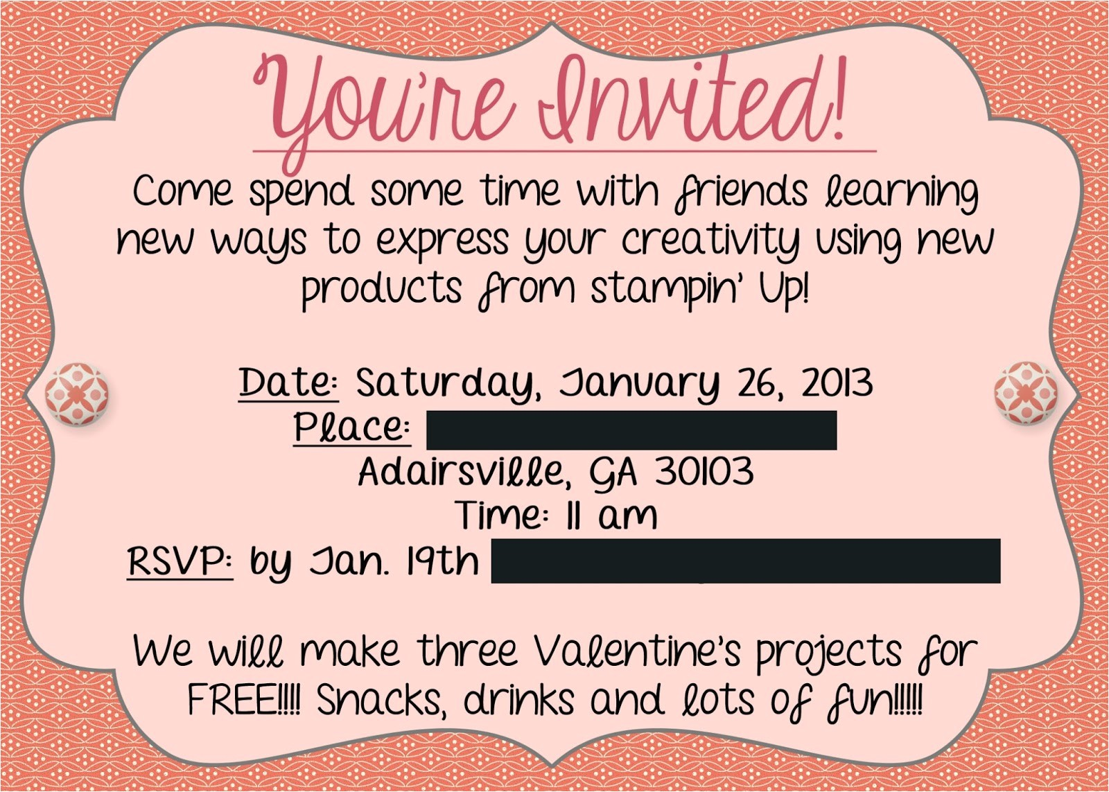 mary kay party invitations