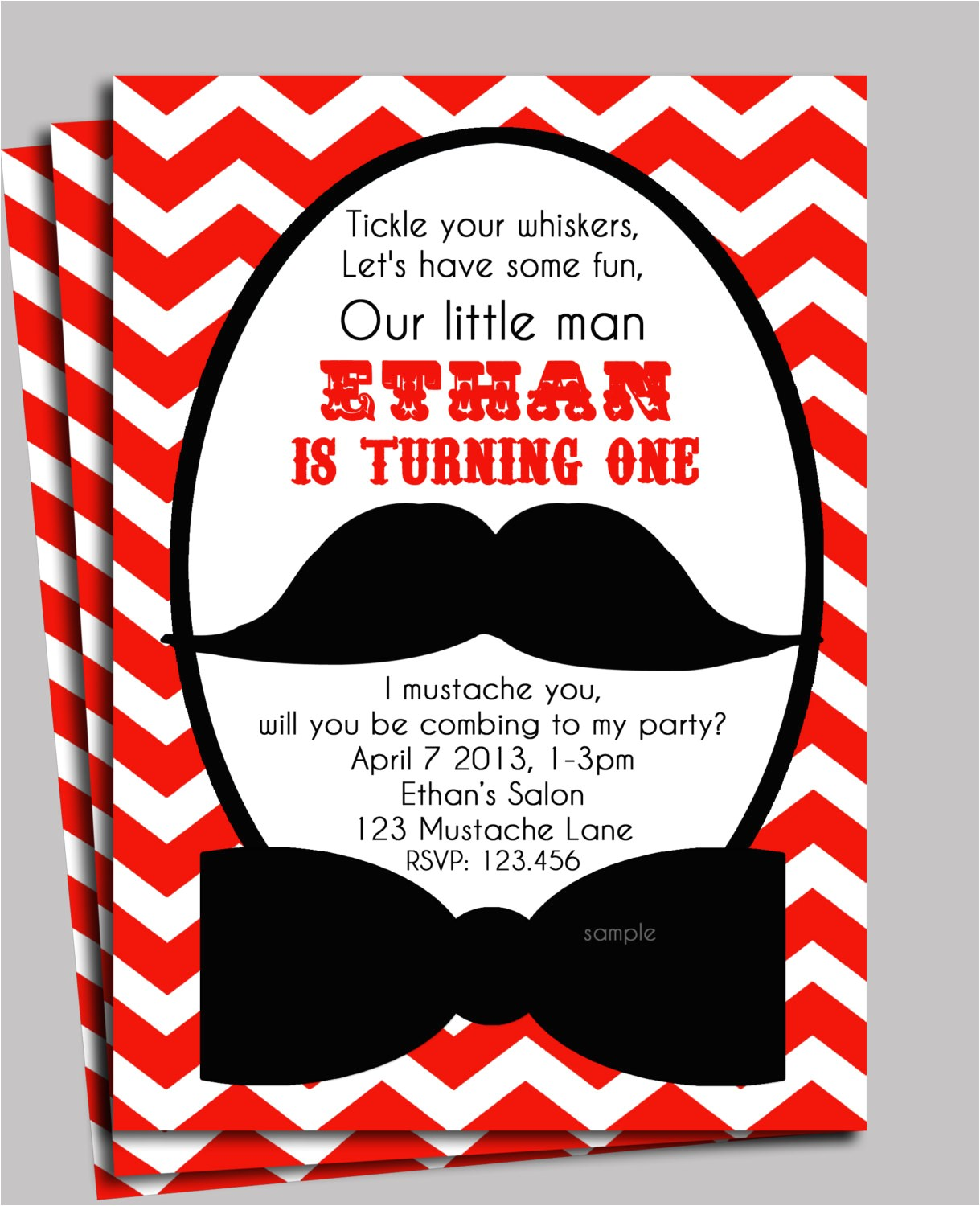 little man mustache invitation printable