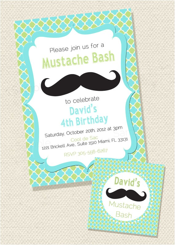 mustache sleepover birthday bash printable party 2