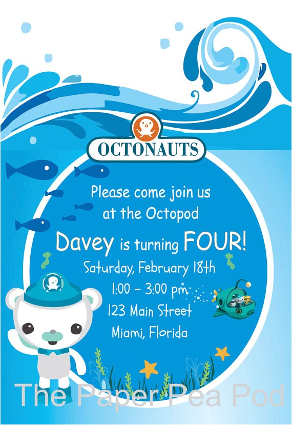 new octonauts inspired custom printable