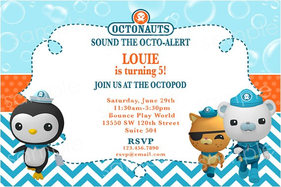 Printable Octonauts Birthday Invitations Octonauts Birthday Invitation Diy Digital by Modpoddesigns