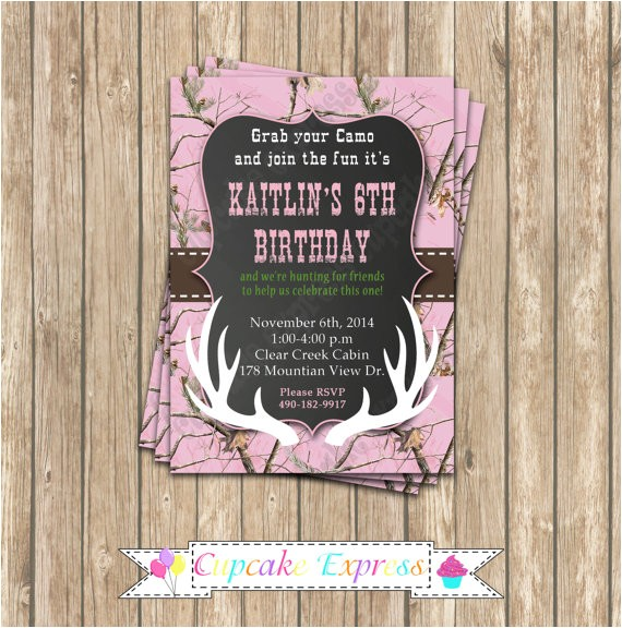 camo girl hunting birthday party printable 5
