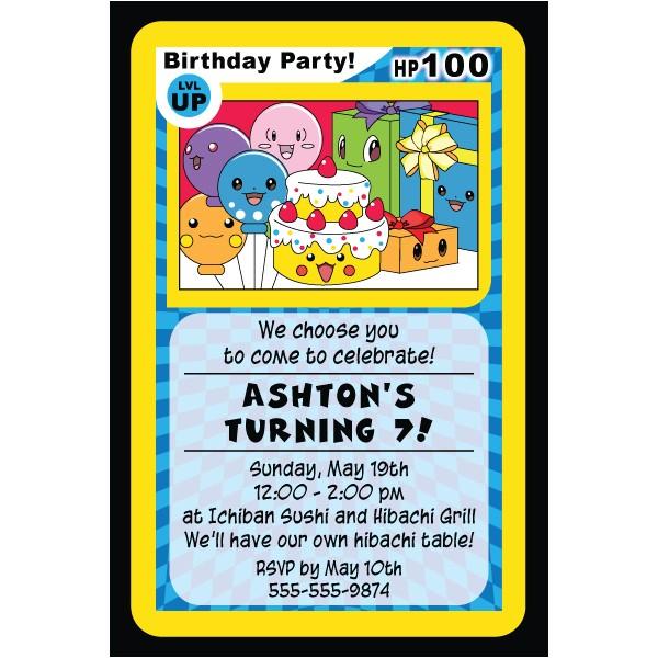 post free printable pokemon birthday invitations