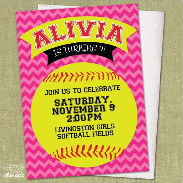 chevron softball invitation diy ref=shop home active 3