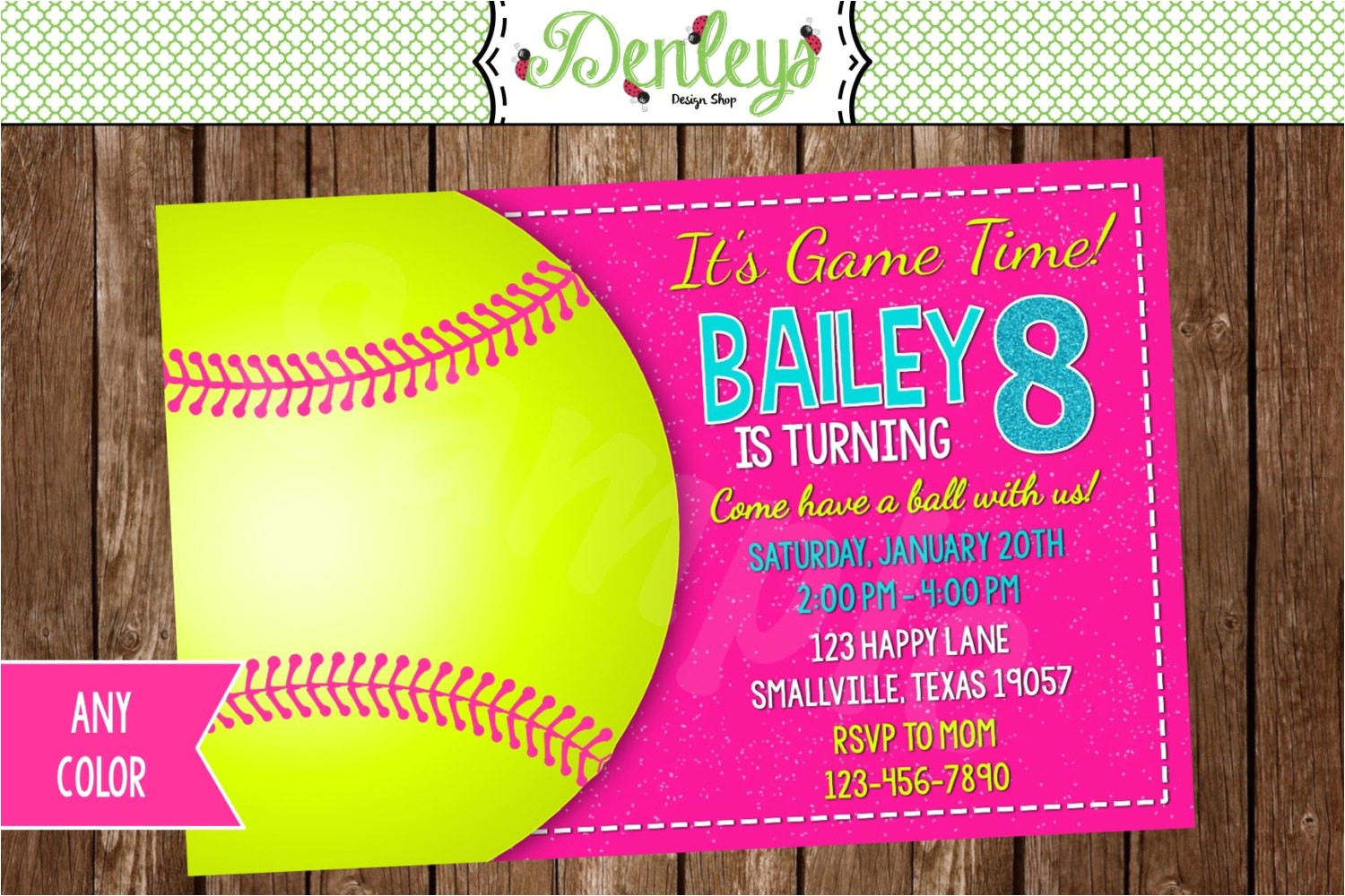 softball printable invitation softball